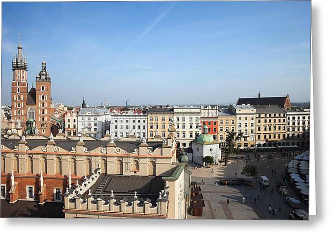 Town Square Greeting Cards - Old Town in Krakow Greeting Card by Artur Bogacki