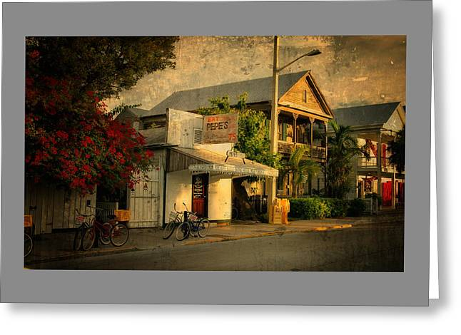 Awning Photographs Greeting Cards - Old Town -  Key West Florida Greeting Card by Thomas Schoeller