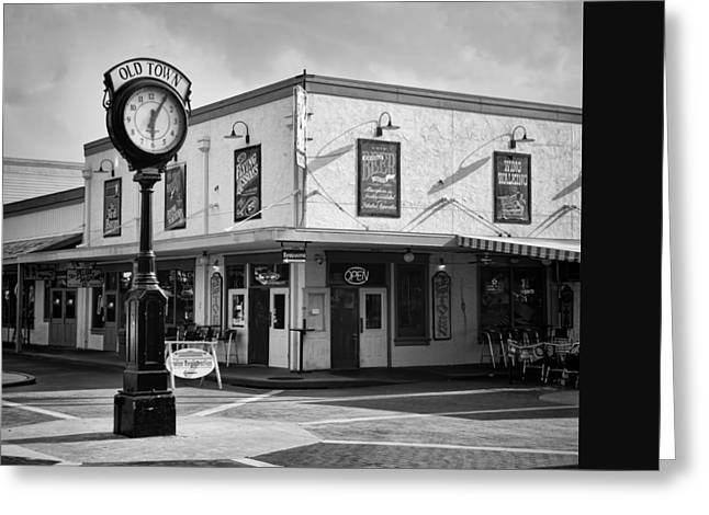 Lessons Greeting Cards - Old Town - Kissimmee - Florida - b/w Greeting Card by Greg Jackson