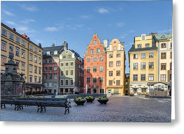 Town Square Greeting Cards - Old Town Square Greeting Card by Bertil Stolt