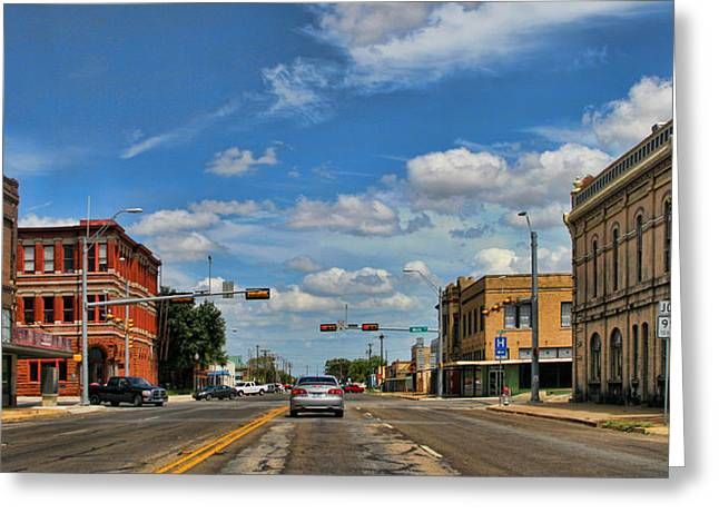 Old Town Taylor Intersection Greeting Card by Linda Phelps