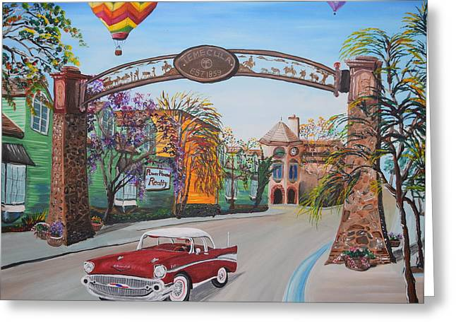 Old Town Temecula Greeting Cards - Old Town Temecula Greeting Card by Eric Johansen