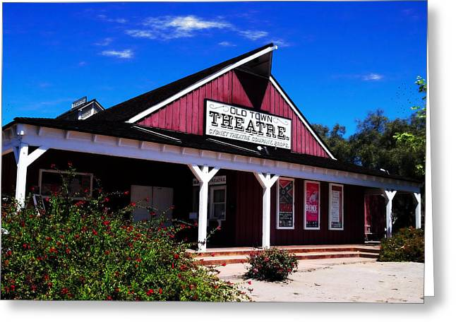 Old Town Theatre - San Diego Greeting Card by Glenn McCarthy Art and Photography