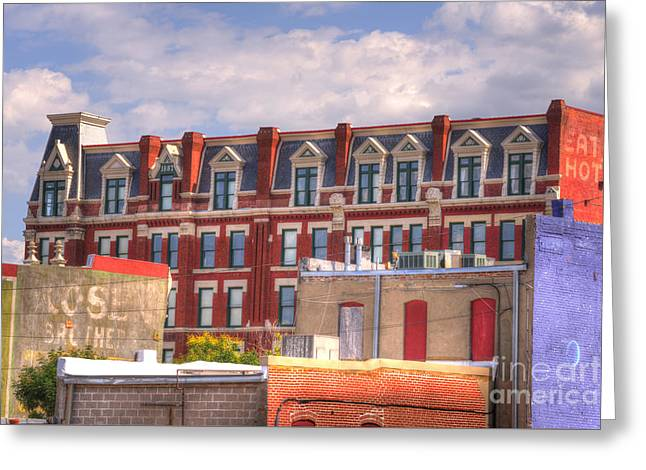 Historic Buildings Images Greeting Cards - Old Town Wichita Kansas Greeting Card by Juli Scalzi