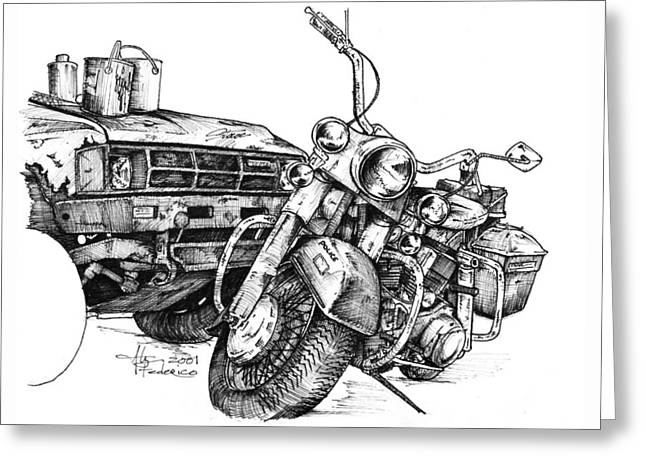 Painted Details Drawings Greeting Cards - Old Toys Greeting Card by Alyn Federico