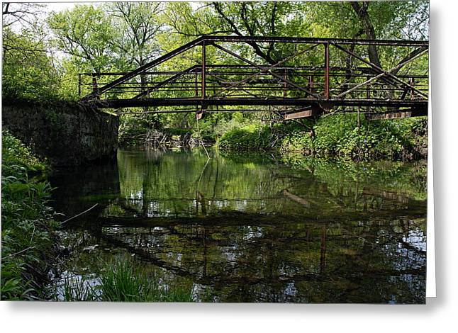 Trestle Greeting Cards - Old Trestle Bridge Greeting Card by Larry Ricker