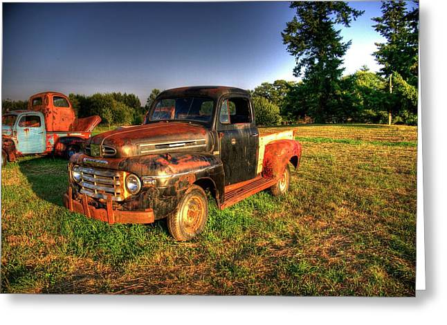 Old Trucks Greeting Cards - Old Truck 1 Greeting Card by Lawrence Christopher