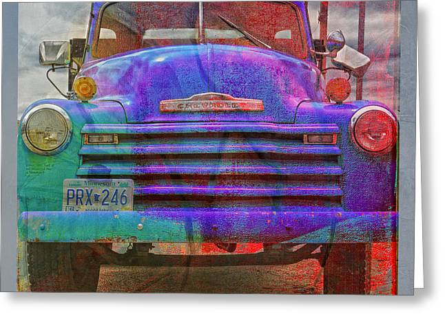 Color Enhanced Greeting Cards - Old Truck Face Lift Greeting Card by Susan Stone