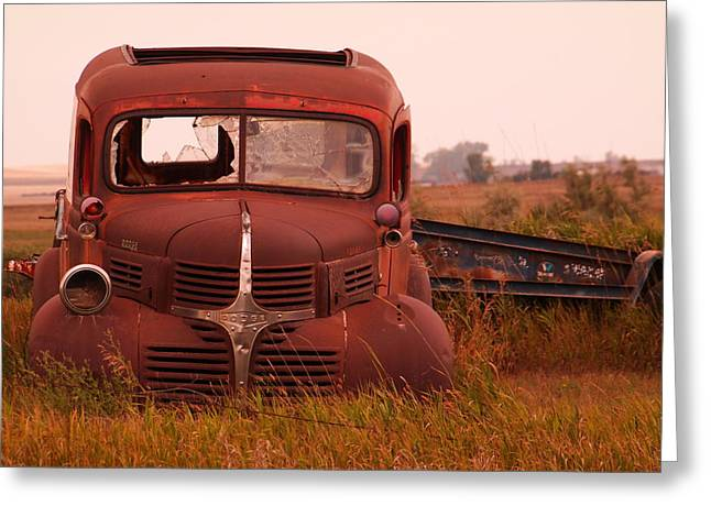 Rusted Cars Greeting Cards - Old truck Greeting Card by Jeff  Swan