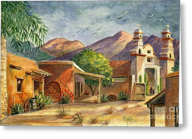 Set Greeting Cards - Old Tucson Greeting Card by Marilyn Smith