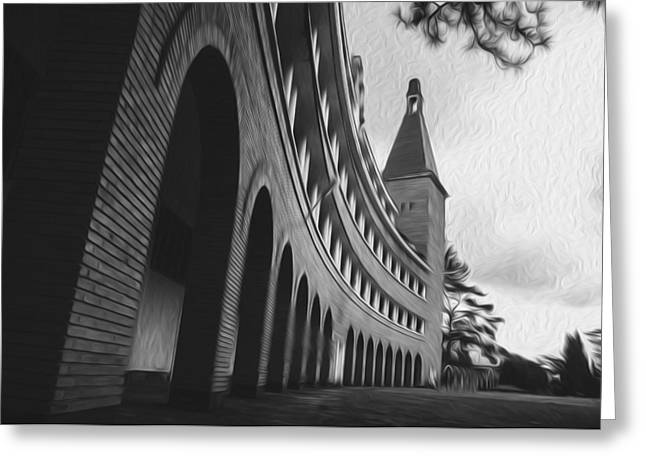 Dalat Greeting Cards - Old university in Da Lat Greeting Card by Nguyen Truc