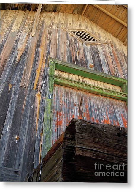 Wooden Building Greeting Cards - Old Unloading Dock Greeting Card by Joy Tudor