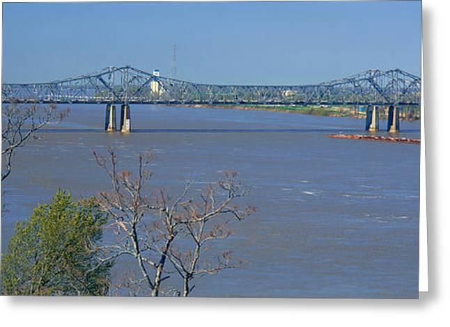 Old Vicksburg Bridge Crossing Ms River Greeting Card by Panoramic Images