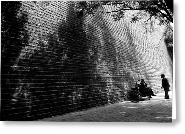 Old Wall Greeting Card by Lian Wang