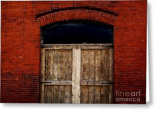 Old Warehouse In Czech Town Greeting Card by Marsha Heiken
