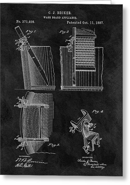 Old Washboard Patent Greeting Card by Dan Sproul