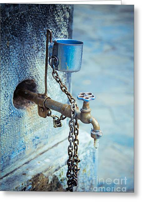 Drinking Water Greeting Cards - Old water tap Greeting Card by Gabriela Insuratelu
