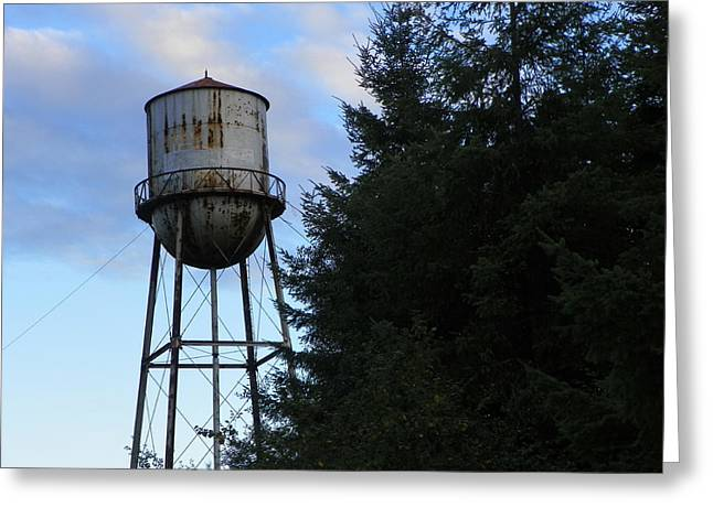 Lamdscape Greeting Cards - Old Water Tower Greeting Card by Laurie Kidd