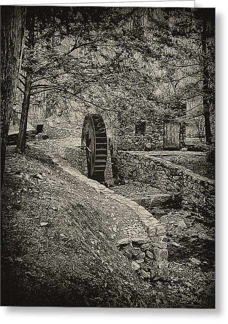 Philadelphia Digital Greeting Cards - Old Water Wheel Greeting Card by Bill Cannon