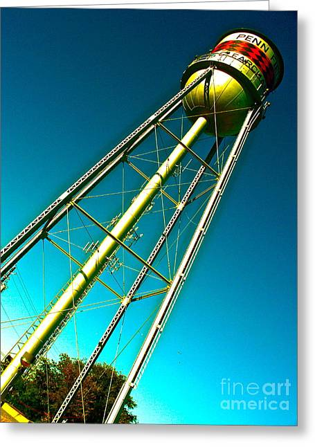 Watertower Greeting Cards - Old Watertowers Never Die Greeting Card by Chuck Taylor