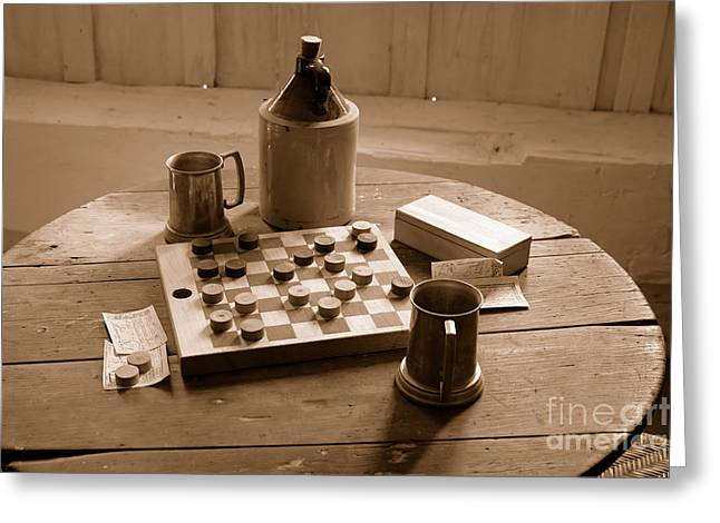 Antique Bottles Greeting Cards - Old Way of Life Series - Past Time Greeting Card by Joe  Ng