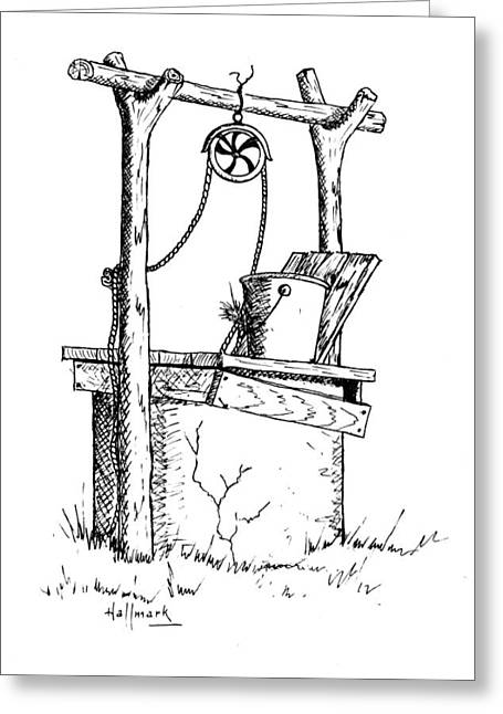 Bob Hallmark Greeting Cards - Old Well Greeting Card by Bob Hallmark