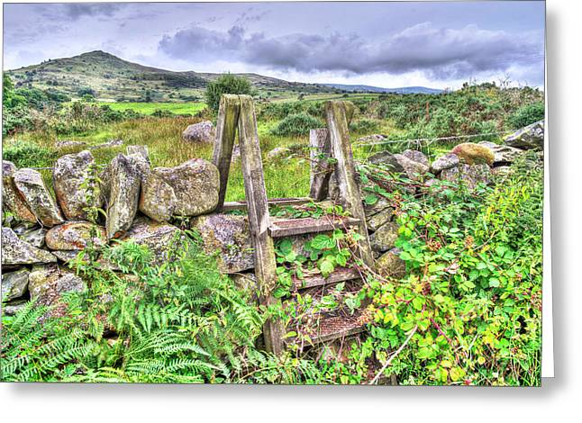 Old Welsh Wall Greeting Card by Mal Bray