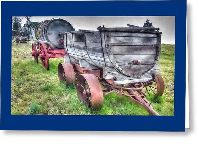 Warm Greeting Cards - Old West Wagons Greeting Card by Thom Zehrfeld