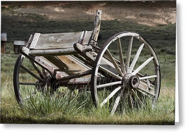 Wagon Wheels Greeting Cards - Old Wheels Greeting Card by Kelley King