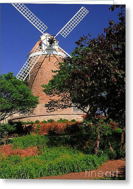 White Smock Greeting Cards - Old Windmill Greeting Card by Kathleen Struckle