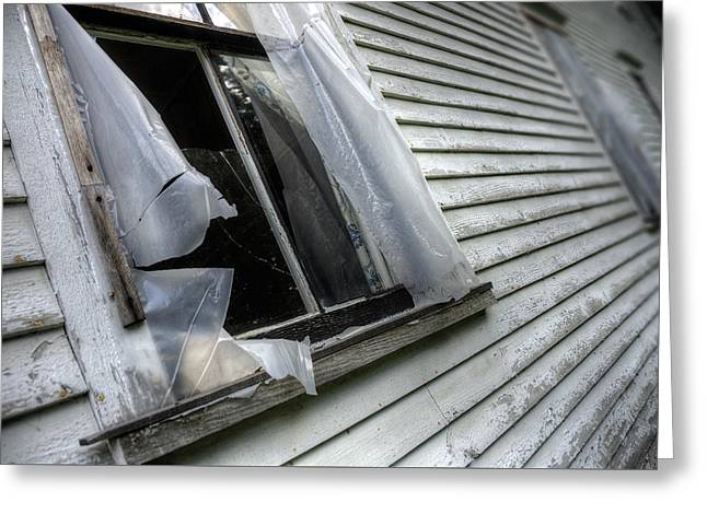 Old Maine Houses Greeting Cards - Old Window Greeting Card by Patrick Groleau