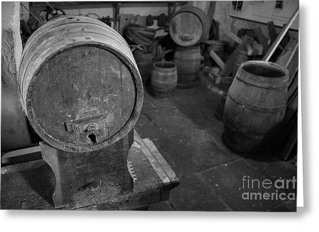 Cooperage Greeting Cards - Old wine barrels Greeting Card by Gaspar Avila