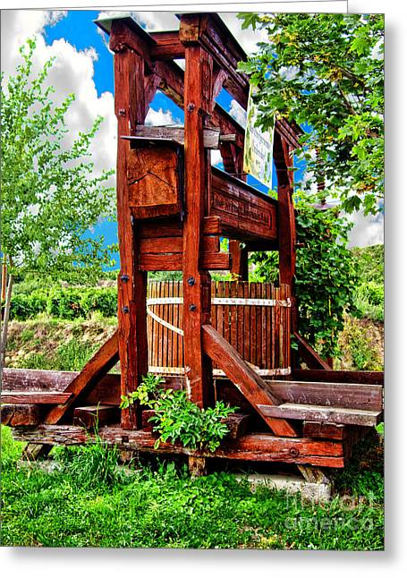 Wine Tour Greeting Cards - Old Wine Press Greeting Card by Mariola Bitner