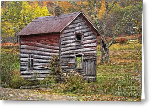 Tin Roof Greeting Cards - Old With Character Greeting Card by Deborah Benoit