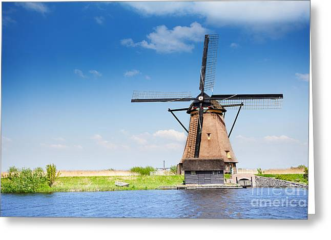Rustenburg Greeting Cards - Old wooden arrogation mill in Holland  Greeting Card by Sergey Novikov