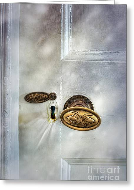 Old Wooden Door Greeting Card by Amanda And Christopher Elwell