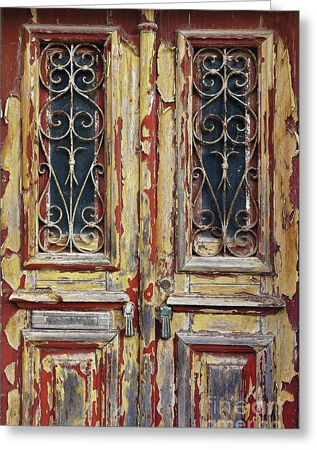 Old Wooden Doors Greeting Card by Carlos Caetano