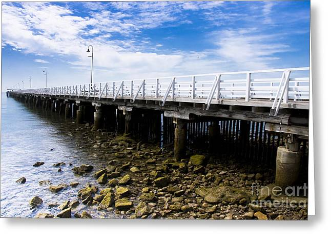 Sea Platform Greeting Cards - Old Wooden Pier Greeting Card by Ryan Jorgensen