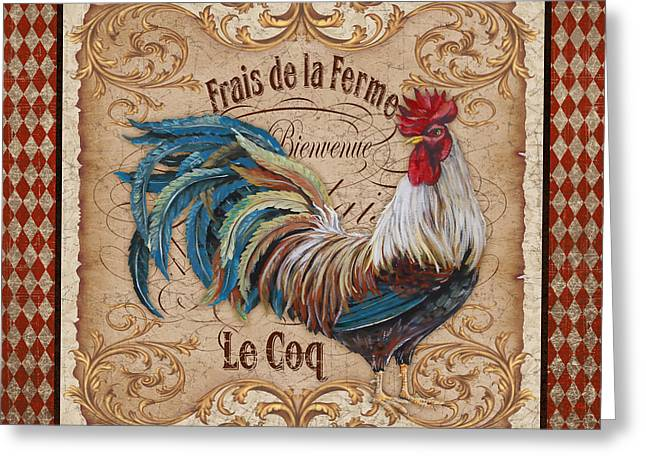 Le Coq Greeting Cards - Old World Le Coq-JP3091 Greeting Card by Jean Plout