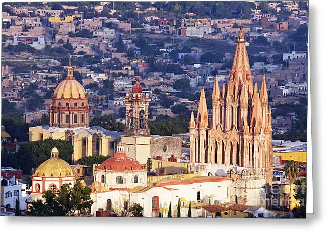 San Miguel De Allende Greeting Cards - Old World Skyline Greeting Card by Jeremy Woodhouse