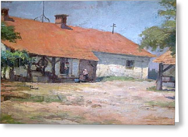 Greeting Cards - Old  World Slovenian Farmhouse Greeting Card by Sherri  Of Palm Springs