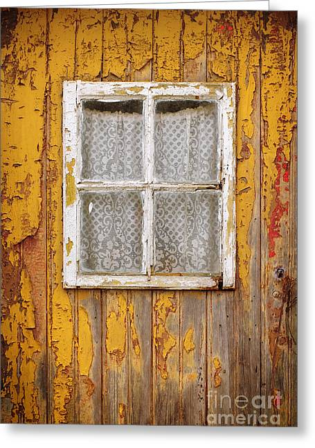 Old Yellow Door Greeting Card by Carlos Caetano