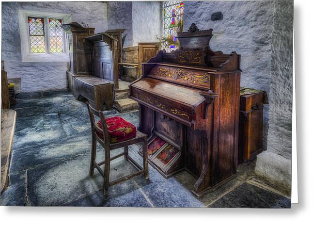 Music History Greeting Cards - Olde Church Organ Greeting Card by Ian Mitchell