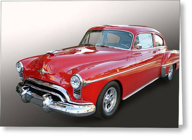 Enhanced Greeting Cards - Olds 88 Fastback Greeting Card by Bill Dutting