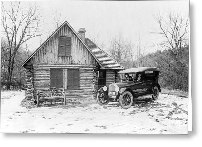 Log Cabin Photographs Greeting Cards - Oldsmobile Ad, 1920 Greeting Card by Granger