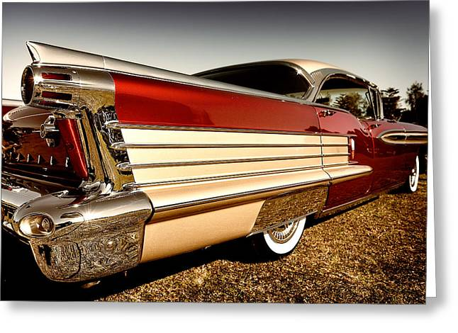 Red Skirt Greeting Cards - Oldsmobile the skirt  Greeting Card by Michael Howard