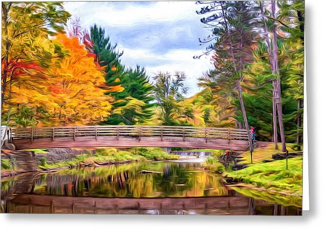 Ole Bull State Park - Pennsylvania - Paint Greeting Card by Steve Harrington
