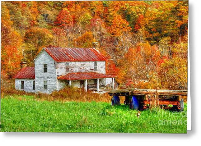 Ole Farm House Greeting Card by Darren Fisher