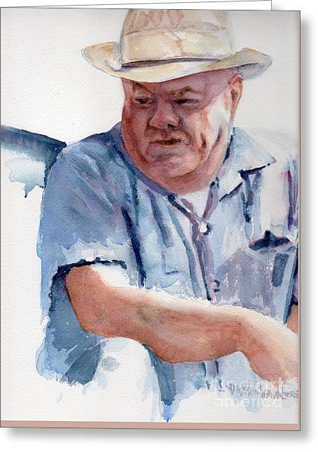 Pensive Greeting Cards - Ole George Greeting Card by Mary Dunham Walters
