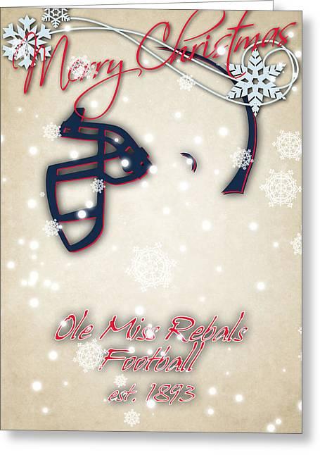 Ole Greeting Cards - Ole Miss Rebels Christmas Card Greeting Card by Joe Hamilton